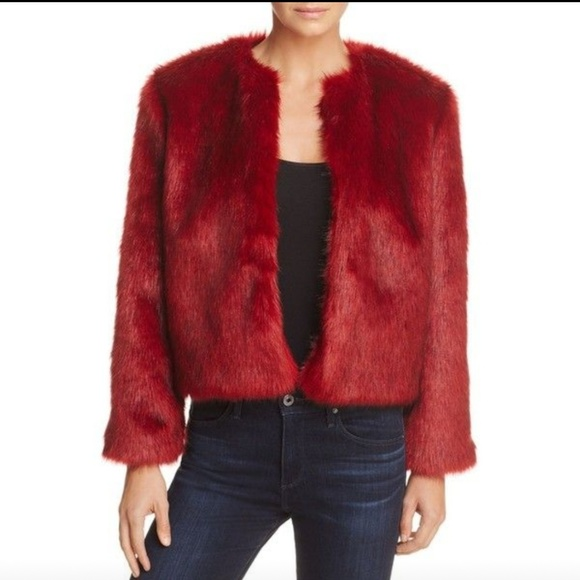 Band of Gypsies Jackets & Blazers - Gorgeous Red Faux Fur Jacket by Band of Gypsies